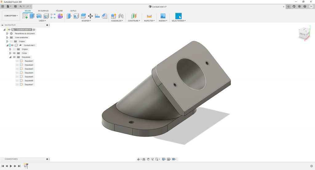 Conception de pièces 3D